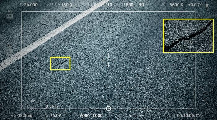 Digital inspectors for road surfaces